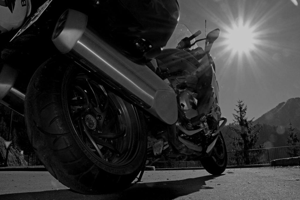 Motorrad UV-Strahlung Lack Kunstoff und Gummi Bauteile