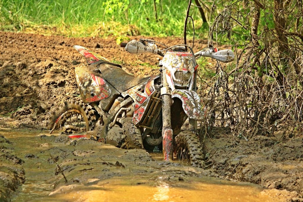 Motorrad Schmutz Dreck