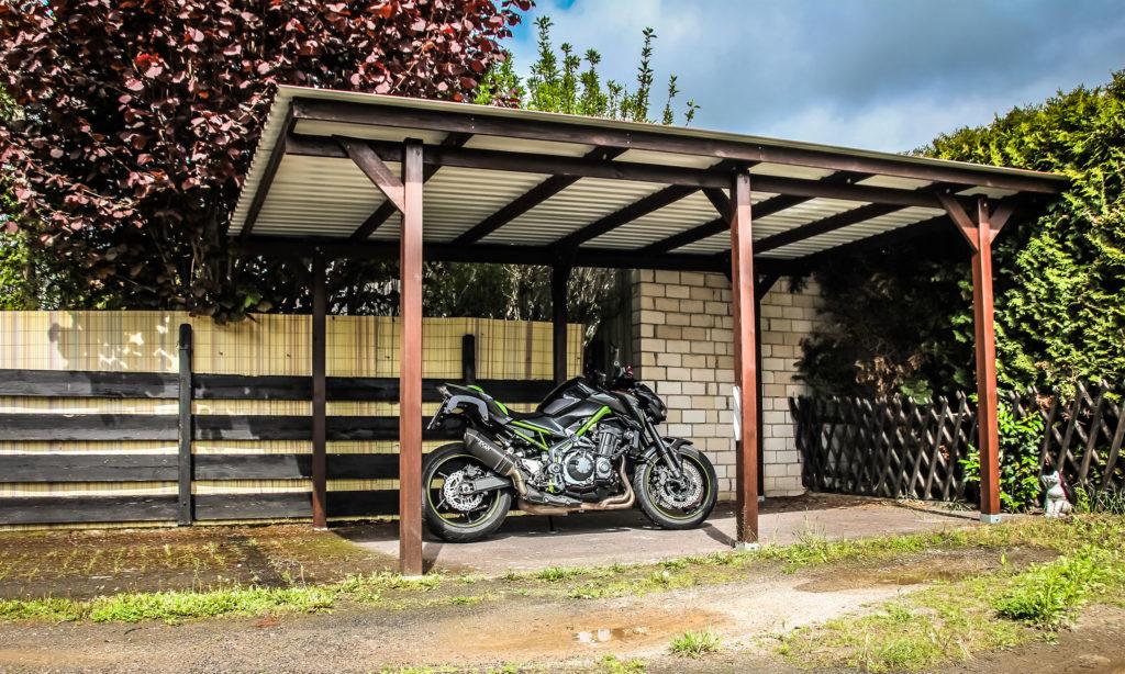 Carport Motorradschloss Abus Diebstahlschutz