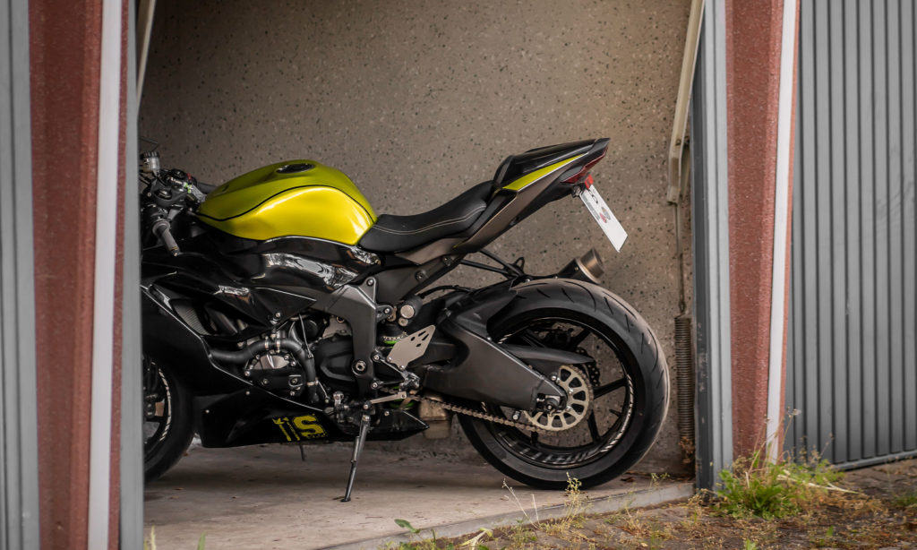 Motorrad Garage Parken Abus Motorradschloss Diebstahlschutz